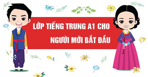 Học tiếng Trung A1 tạiHải Phòng